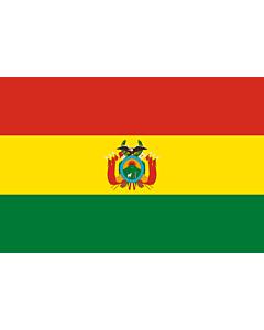 Drapeau: Bolivie |  drapeau paysage | 3.375m² | 150x225cm