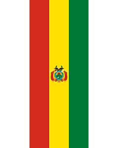 Drapeau: bannière drapau avec tunnel sans crochets Bolivie |  portrait flag | 3.5m² | 300x120cm