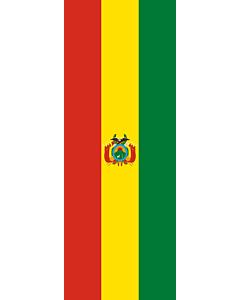 Drapeau: bannière drapau avec tunnel sans crochets Bolivie |  portrait flag | 6m² | 400x150cm