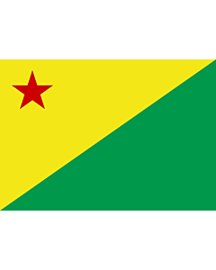 Flag: Acre (state) |  landscape flag | 0.24m² | 2.5sqft | 40x60cm | 1.3x2foot