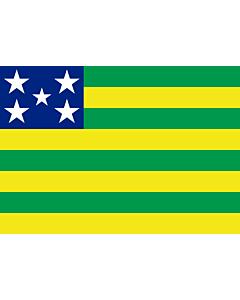 Flag: Goiás |  landscape flag | 0.24m² | 2.5sqft | 40x60cm | 1.3x2foot