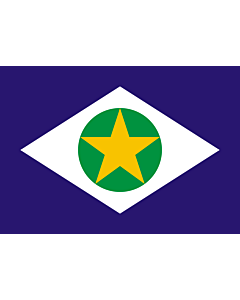 Flag: Mato Grosso |  landscape flag | 0.24m² | 2.5sqft | 40x60cm | 1.3x2foot