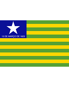 Flag: Piauí |  landscape flag | 0.24m² | 2.5sqft | 40x60cm | 1.3x2foot