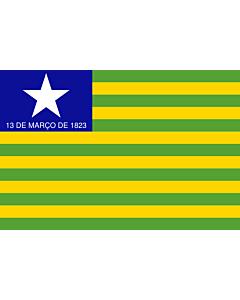Flag: Piauí |  landscape flag | 6.7m² | 72sqft | 200x335cm | 6x11ft