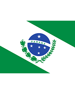 Flag: Paraná |  landscape flag | 0.24m² | 2.5sqft | 40x60cm | 1.3x2foot