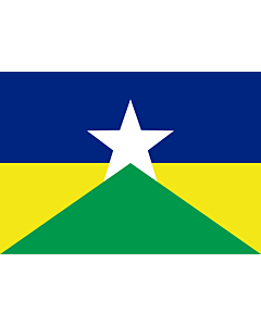 Flag: Rondônia |  landscape flag | 6.7m² | 72sqft | 200x335cm | 6x11ft