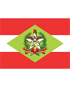 Drapeau: Santa Catarina |  drapeau paysage | 0.24m² | 40x60cm