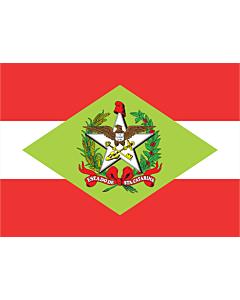 Flag: Santa Catarina |  landscape flag | 6.7m² | 72sqft | 220x300cm | 85x120inch