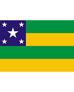 Flag: Sergipe |  landscape flag | 6.7m² | 72sqft | 200x335cm | 6x11ft