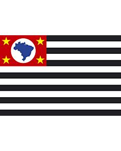 Flag: São Paulo |  landscape flag | 0.24m² | 2.5sqft | 40x60cm | 1.3x2foot