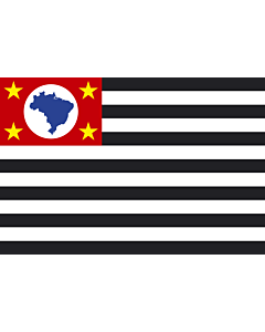 Flag: São Paulo |  landscape flag | 6.7m² | 72sqft | 200x335cm | 6x11ft
