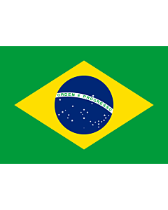 Flag: Brazil |  landscape flag | 0.375m² | 4sqft | 50x75cm | 1.5x2.5ft