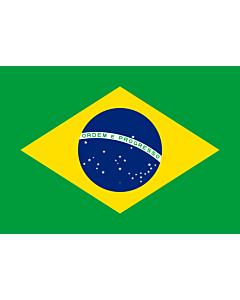 Flag: Brazil |  landscape flag | 1.35m² | 14.5sqft | 90x150cm | 3x5ft