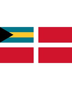 Drapeau: Civil Ensign of the Bahamas |  drapeau paysage | 1.35m² | 80x160cm