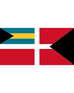 Drapeau: Civil Jack of the Bahamas |  drapeau paysage | 1.35m² | 80x160cm