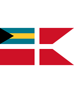 Flag: Civil Jack of the Bahamas |  landscape flag | 1.35m² | 14.5sqft | 80x160cm | 30x60inch