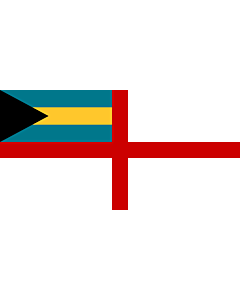 Flag: Naval Ensign of the Bahamas |  landscape flag | 1.35m² | 14.5sqft | 80x160cm | 30x60inch
