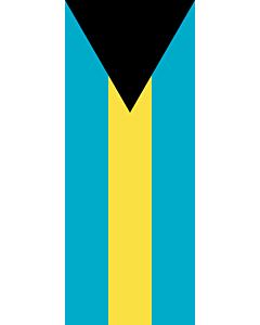 Drapeau: bannière drapau avec tunnel et avec crochets Bahamas |  portrait flag | 3.5m² | 300x120cm