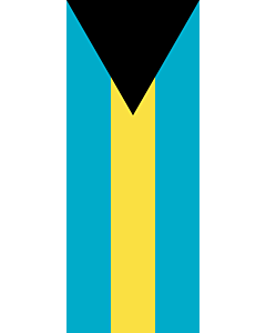Vertical Hanging Beam Flag: Bahamas |  portrait flag | 3.5m² | 38sqft | 300x120cm | 10x4ft
