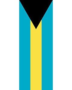 Vertical Hanging Swivel Crossbar Banner Flag: Bahamas |  portrait flag | 6m² | 64sqft | 400x150cm | 13x5ft