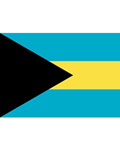 Flag: Bahamas |  landscape flag | 0.7m² | 7.5sqft | 70x100cm | 2x3ft