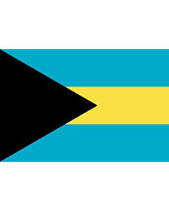 Flag: Bahamas |  landscape flag | 1.5m² | 16sqft | 100x150cm | 3.5x5ft