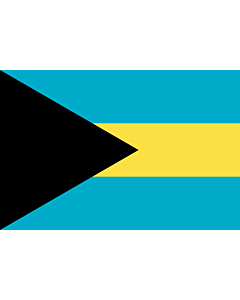 Drapeau: Bahamas |  drapeau paysage | 3.375m² | 150x225cm