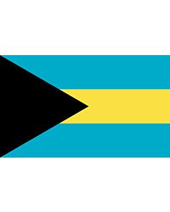 Flag: Bahamas |  landscape flag | 6.7m² | 72sqft | 200x335cm | 6x11ft