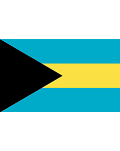 Drapeau: Bahamas |  drapeau paysage | 6.7m² | 200x335cm