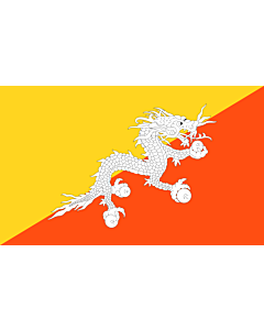 Flag: Bhutan |  landscape flag | 3.75m² | 40sqft | 150x250cm | 5x8ft