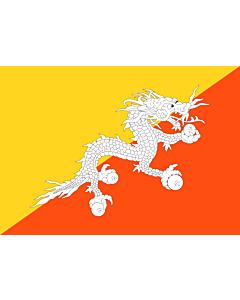 Flag: Bhutan |  landscape flag | 0.7m² | 7.5sqft | 70x100cm | 2x3ft
