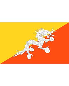 Flag: Bhutan |  landscape flag | 1.35m² | 14.5sqft | 90x150cm | 3x5ft