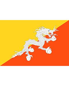 Flag: Bhutan |  landscape flag | 1.5m² | 16sqft | 100x150cm | 3.5x5ft
