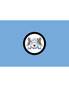 Flag: Standard of the President of Botswana 20x30cm | 8x12in