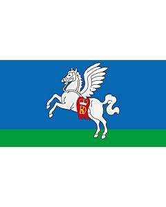 Flag: Slutsk, Belarus |  landscape flag | 1.35m² | 14.5sqft | 85x160cm | 33x60inch