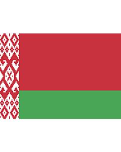 Flag: Belarus |  landscape flag | 0.7m² | 7.5sqft | 70x100cm | 2x3ft