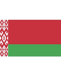 Flag: Belarus |  landscape flag | 1.35m² | 14.5sqft | 90x150cm | 3x5ft