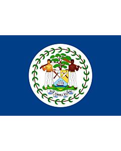 Bandera: Belize  1950-1981 | Belize | Belizae | Флаг Белиза | Belizeja |  bandera paisaje | 1.35m² | 90x150cm