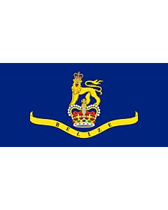 Bandera: Governor-General of Belize |  bandera paisaje | 1.35m² | 80x160cm