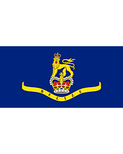 Flagge: XL Governor-General of Belize  |  Querformat Fahne | 2.16m² | 100x200cm