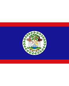 Bandera: Belice |  bandera paisaje | 0.24m² | 40x60cm