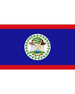 Bandera de Mesa: Belice 15x25cm