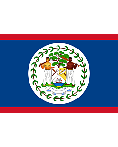 Indoor-Flag: Belize 90x150cm