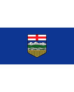 Bandera: Alberta |  bandera paisaje | 0.24m² | 35x70cm