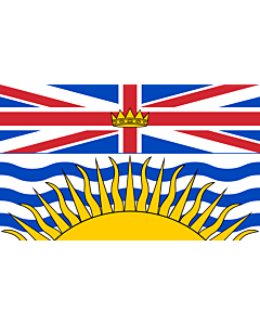 Flag: British Columbia |  landscape flag | 6.7m² | 72sqft | 200x335cm | 6x11ft