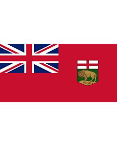 Bandera: Manitoba |  bandera paisaje | 0.24m² | 35x70cm
