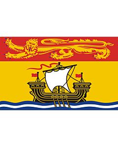 Bandera: Nuevo Brunswick |  bandera paisaje | 0.24m² | 40x60cm