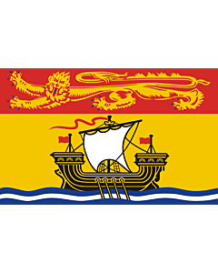 Flag: New Brunswick  |  landscape flag | 6.7m² | 72sqft | 200x335cm | 6x11ft
