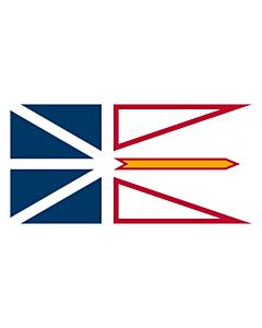 Bandera: Terranova y Labrador |  bandera paisaje | 0.24m² | 35x70cm
