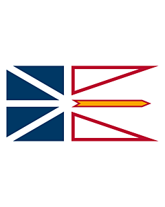Flag: Newfoundland and Labrador |  landscape flag | 6.7m² | 72sqft | 180x360cm | 70x140inch